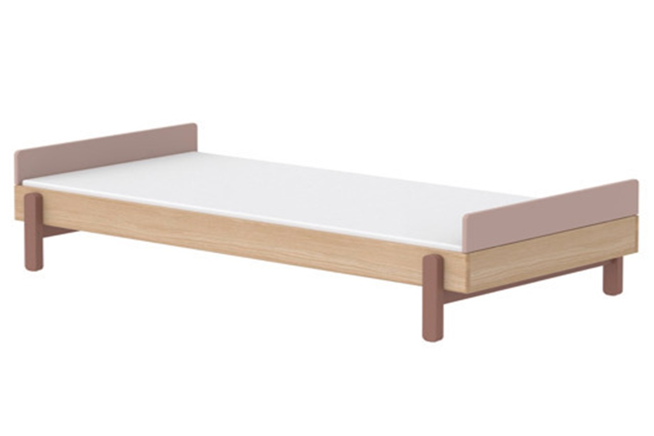 Single Bed With Low Headboard And Footboard Popsicle Cherry