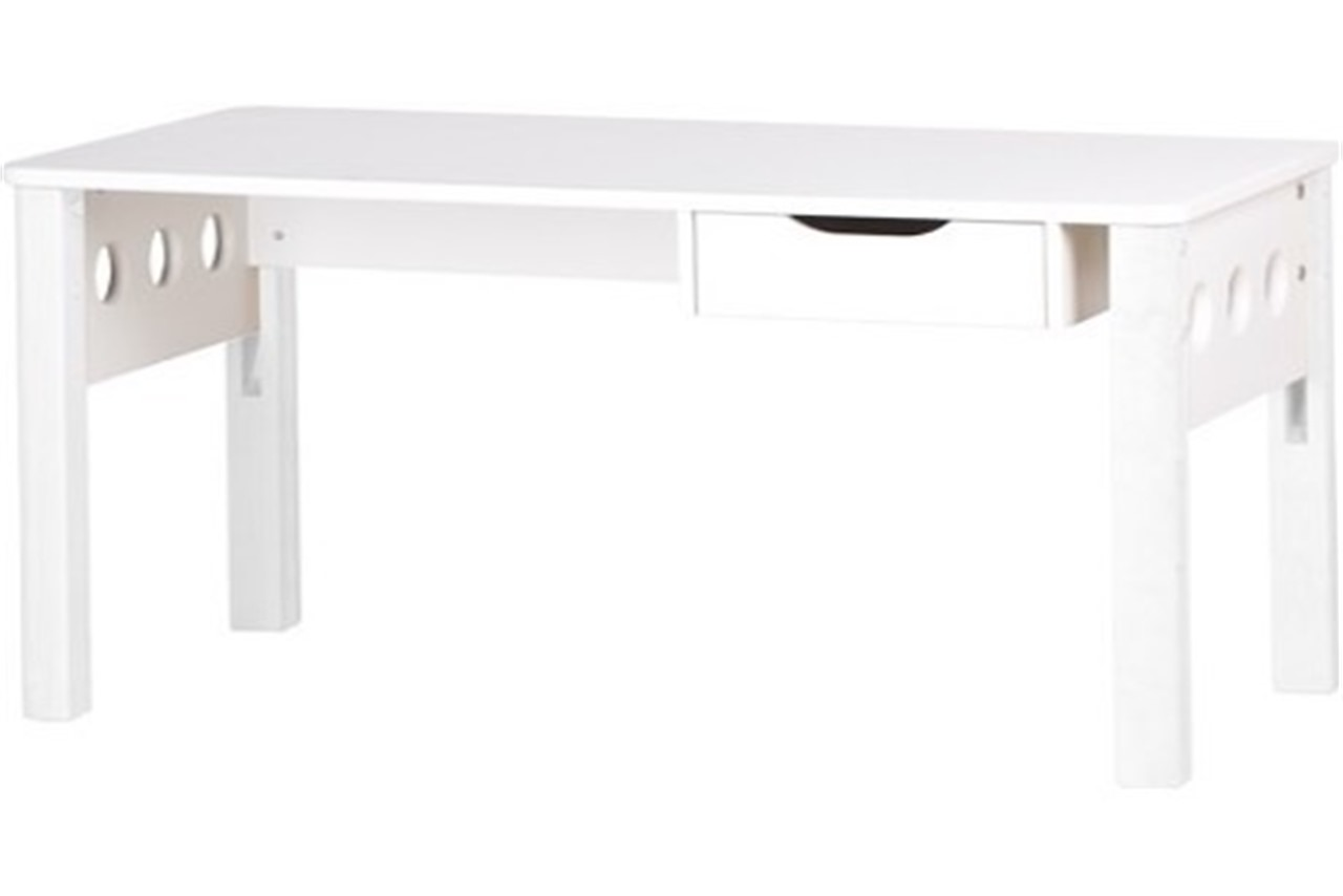 White Long Desk With Drawers Hostgarcia